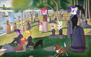 Some Ponies on La Grande Jatte by Orschmann