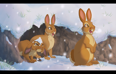 IT'S SNOWING by TheVerdantHare