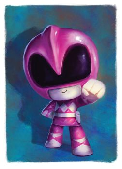 Bubblehead: Pink ranger by JeffVictor