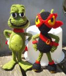 80s Games Amigurumi Commission by FearlessFibreArts