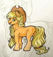 Applejack - Young and carefree by BiaKela