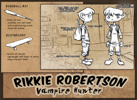 Rikkie Robertson Vampire Hunter by etchant