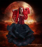 Red Moon by CarmensArts