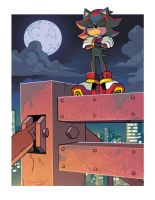 Shadow the Hedgehog (Coloring Commission) by herms85