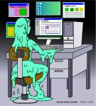Synthea at the computer by KingMonster
