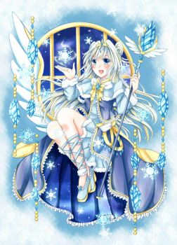 Snowflakes Witch by KazugaMei5