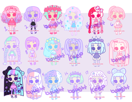 [ Tiny Pastel Adopts ] [5/18 open] by hello-planet-chan