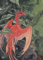 Tropical Dragon ACEO Commission by thedancingemu