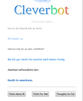 WTH CLEVERBOT? by Blahblee7