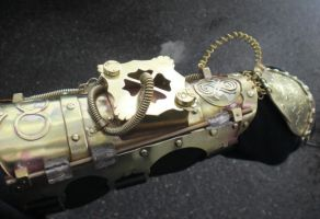 brass Steampunk Armpiece by fairyfrog