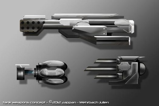 TankZ weapon concepts by Zappan