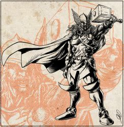 Thor-BW-Revisited by andretapol