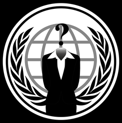 Anonymous Logo Woman PNG by EmyWarrior