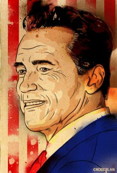 Schwarzenegger Watercolor by roberlan