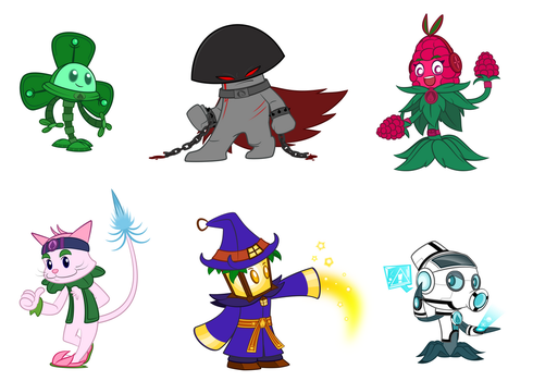 Pvz heroes Oc collection #4 by NgTTh