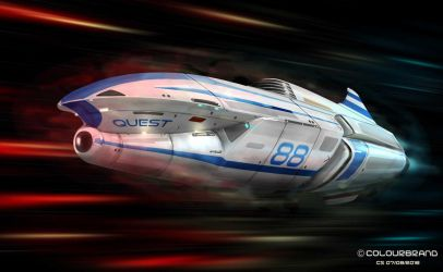 Terran Warp-capable star cruiser by Shoguneagle