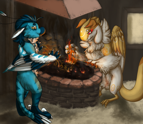 A bit distracted - Basic wind week 3 by Raptor-Tooth