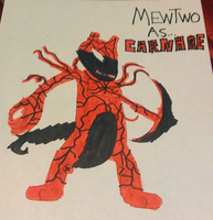 Mewtwo As Carnage by TwistedDarkJustin