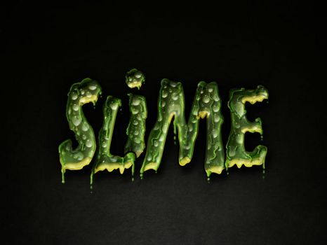 Slimed Text Effect Photoshop Layer Style by Giallo86