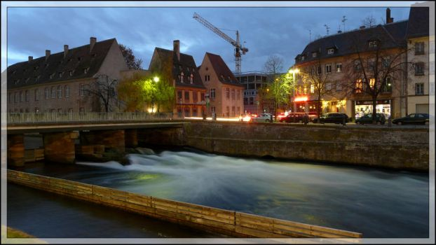 Strasbourg Canal at dusk by cartapus25