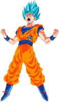 Goku SSGSS Goku Kanji outfit Power Up! by DragonBallAffinity