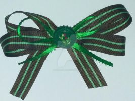 Poison Ivy Barrette Bow by wolf-girl87