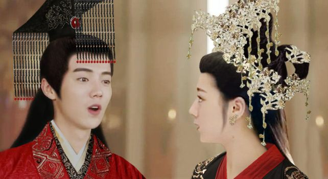 Emperor Luhan and Empress Dilreba by seawaterwitch