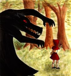 Big Bad Wolf + Red Riding Hood by Eleithel