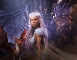 Daenerys, Queen of the Iron Throne, GoT Fan-Art by shibashake