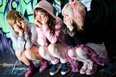Kyary Pamyu Pamyu Shoot Alice, Chia and Violet 8 by JimmyAmericaPhoto