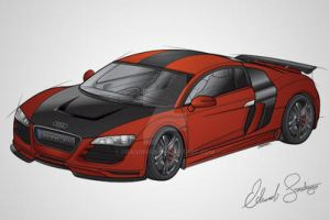 Audi R8 Color Vector by Dragonis0