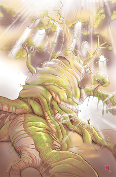 Ethereal-artbook - Humanoid tree by maesesag