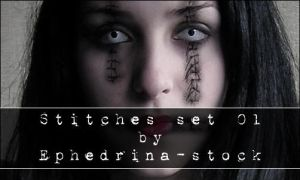 Stitches brushes by ephedrina-stock