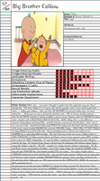 Big Brother Caillou Notepage by Duckyworth