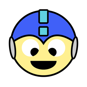 Adobe Illustrator practice: Megaman 1up by kyanjohansson