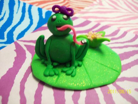 Lily Pad Frog 1 by bridgeXgirl