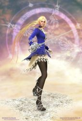 3D Fencer Girl Beauty Shot by Konartist3D