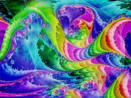 Psychedelic Waves by Thelma1