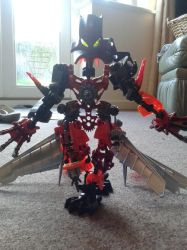 Bionicle self MOC: Time Demon Arkrekarok by OrichalcosSorcerer