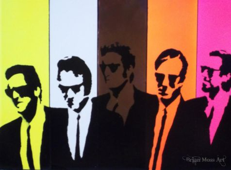 Reservoir dogs stencil by bRiANmoSsARt