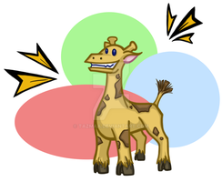 Cartoon Giraffe by Tazmaa
