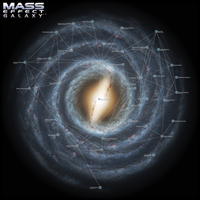 Mass Effect Galaxy Map 2.0 by DWebArt