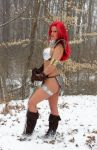 Red Sonja in the snow by AlisaKiss