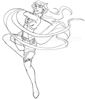Blake WIP [Lineart] by Kalloway