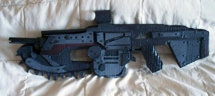 Gears of War Lancer - Painted by SharkBomb