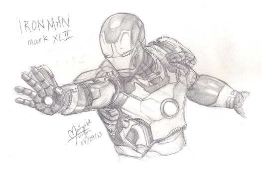 Iron Man 3 Mark 42 Coloring Pages | Coloring Pages