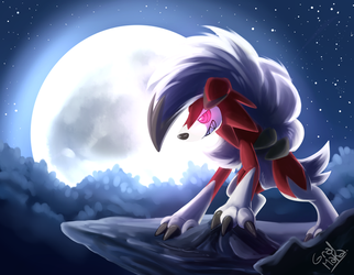 Lycanroc (Midnight form) by HintoArt