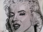 Marilyn Monroe Charcoal by DustinJWCook