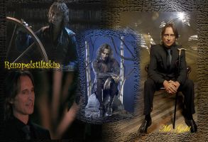 Rumpelstiltskin and Mr.Gold Wallpaper by callyrose