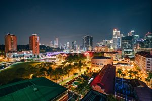 Singapore by night by Stefan-Becker